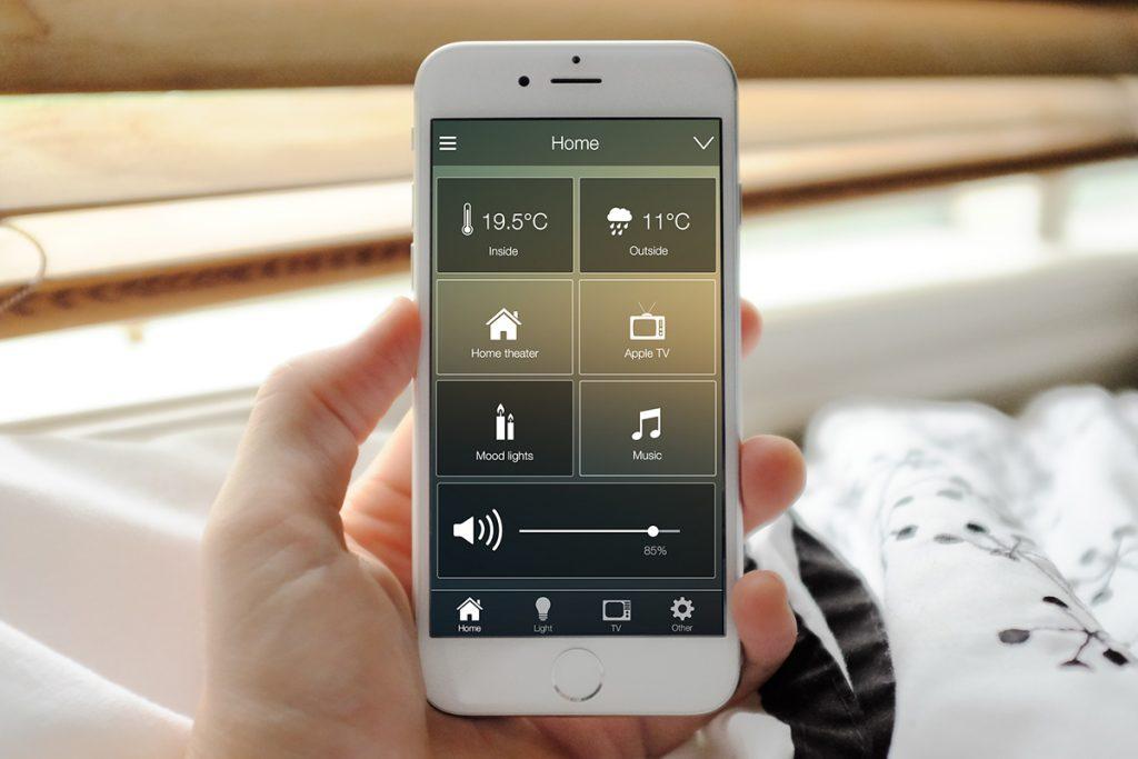 Mockup of the iOS app