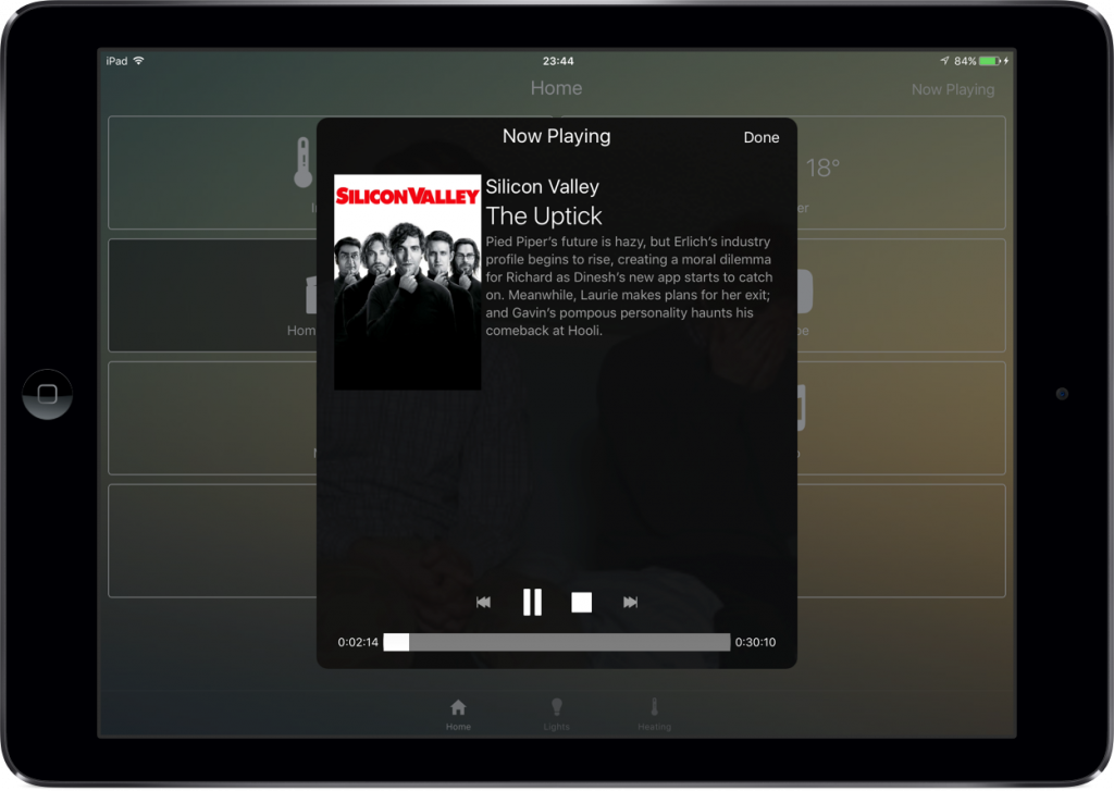 iPad: now playing